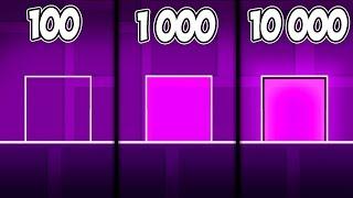 ЧТО НУБ ПОСТРОИТ ЗА 100, 1000, 10000 ОБЪЕКТОВ в Geometry Dash 2 11
