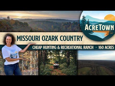 Sprawling Missouri Ozark Hunting & Recreational Ranch   No Restrictions   Priced 40% Below Marke