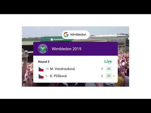 Live sports scores: Wimbledon from YouTube · Duration:  16 seconds