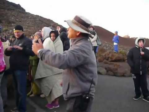 Sunrise chant at Haleakalā National Park
