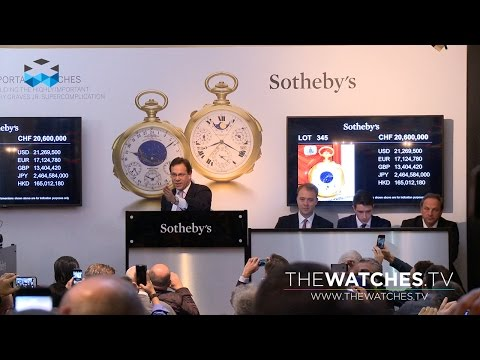 Record Breaking Patek Philippe Auctions in Geneva Fall 2014