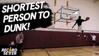 Shortest Person To Dunk A Basketball (World Record!)