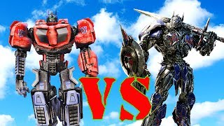 OPTIMUS PRIME (WAR OF CYBETRON) VS OPTIMUS PRIME AUTOBOT - EPIC TRANSFORMERS BATTLE