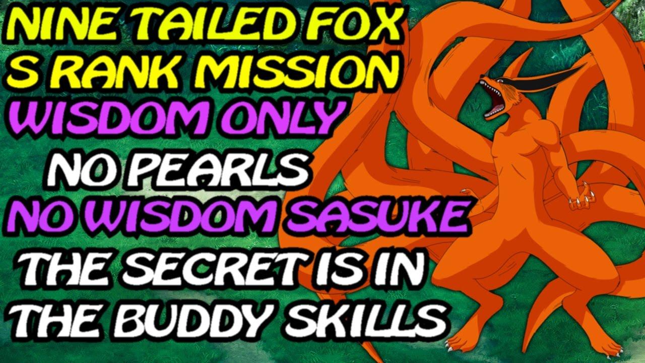 Naruto Ultimate Ninja Blazing Nine Tails S Rank Mission Wisdom Purple Only No Pearls