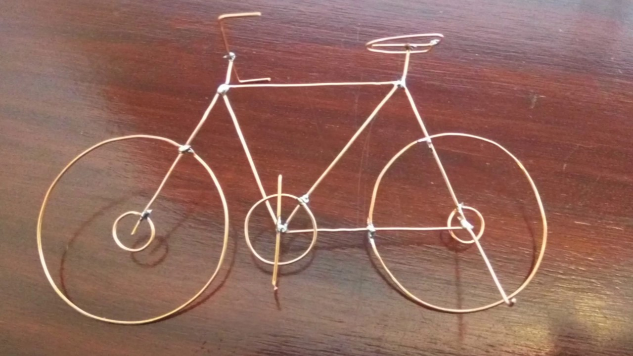 Copper wire bicycle - by As!m - YouTube