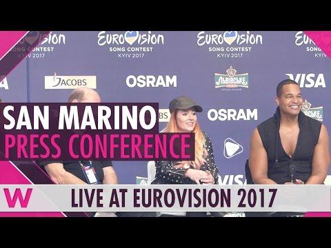 San Marino Press Conference — Valentina Monetta & Jimmie Wilson Eurovision 2017   wiwibloggs