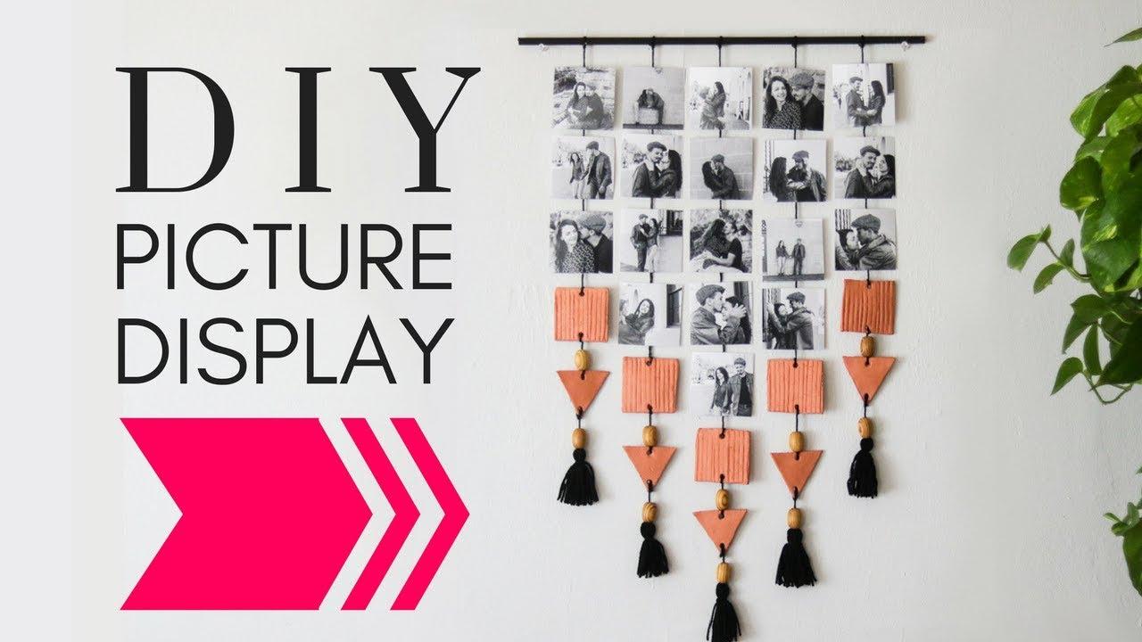 Diy Hanging Picture Display Photo Wall Decor Diy Diy
