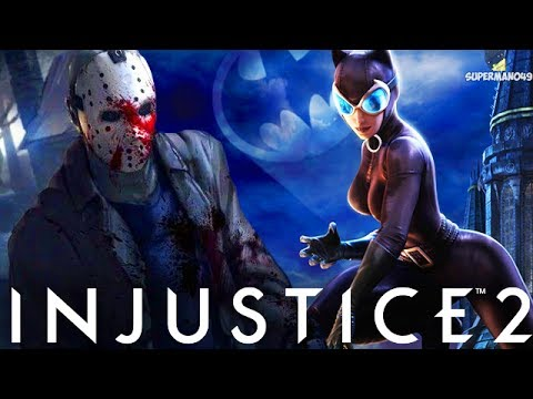 """THE UNSTOPPABLE JASON VOORHEES EPIC ABILITY! - Injustice 2 """"Catwoman"""" Gameplay (Epic Gear)"""