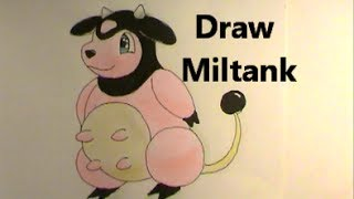 Moo? MILTANK! Draw Pokemon No  241 Tutorial