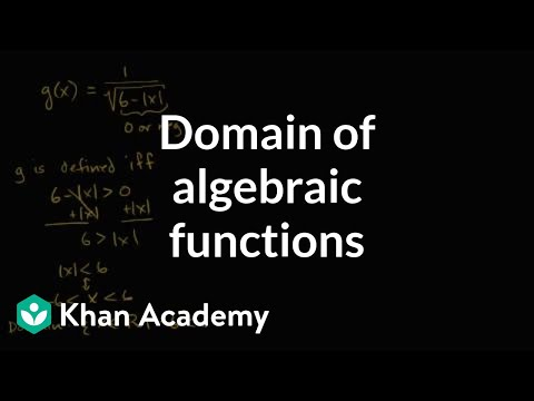 How to determine the domain of algebraic functions (examples) | Functions | Algebra I | Khan Academy