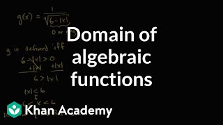 Examples Of Finding The Domain Of A Function