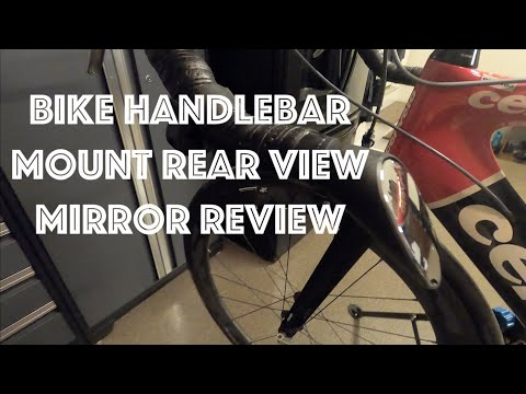 Sprintech Handlebar Mount Rear View Mirror Review For My Road Bike Bar Mounted Bicycle Safety Youtube