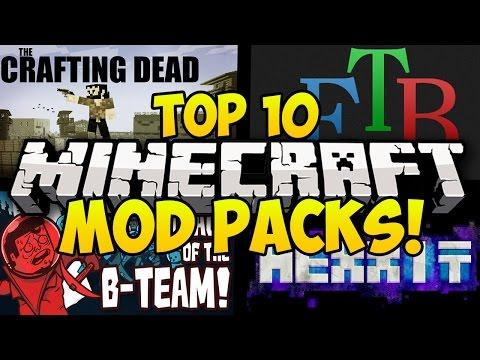 TOP 10 BEST MINECRAFT MODPACKS! (Minecraft Mods, Minecraft Top 10 Mod Packs, Minecraft Modded)