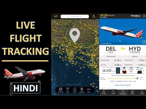 LIVE Flight Tracking And Air Traffic Information By Flightradar24 | In Hindi