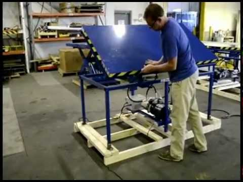 Ergonomic Tilting And Rotating Fixture Table Youtube