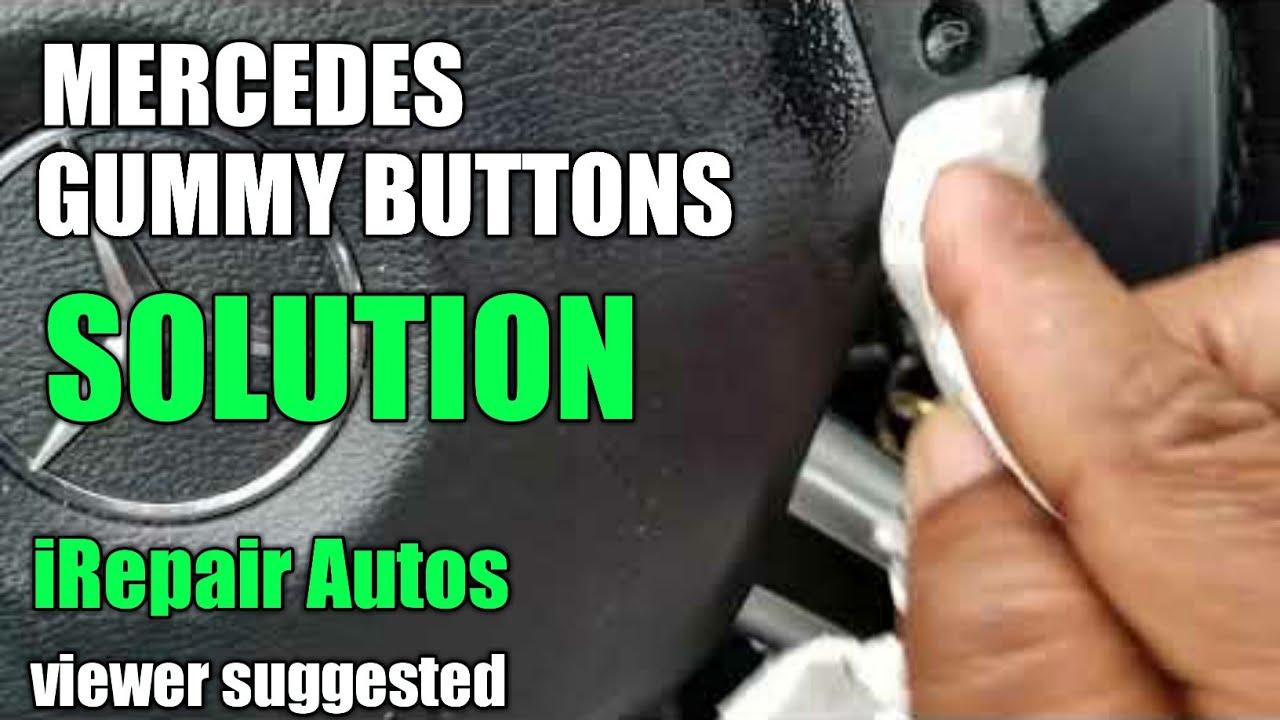 Mercedes Steering Wheel Sticky Ons Cleanup Diy
