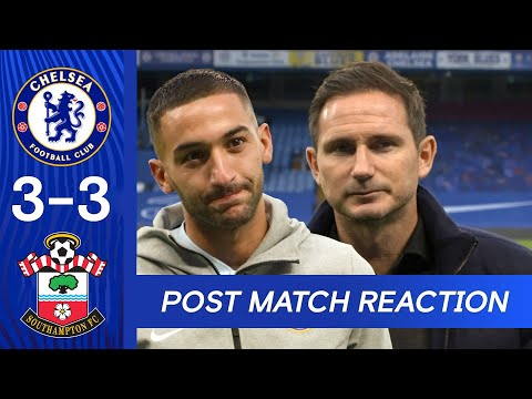 Lampard on Werner's Performance & Ziyech On Making Debut | Chelsea 3-3 Southampton | Premier League