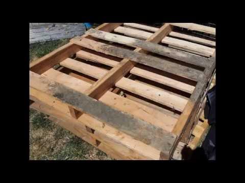 Procesos de construcci n de muebles de palets 1 youtube for Muebles de jardin con tarimas