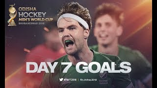 ALL THE GOALS From Day 7! | Odisha Men's Hockey World Cup Bhubaneswar 2018