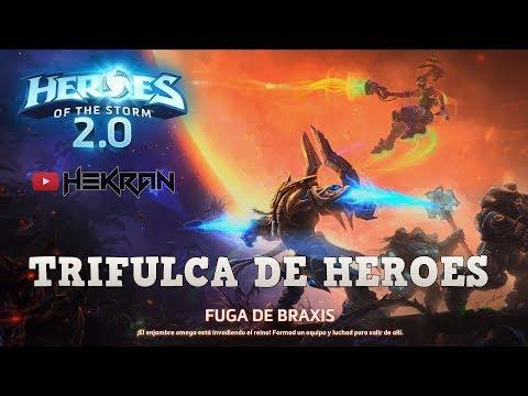 Hekran | FUGA DE BRAXIS - Nueva trifulca PVE COOP | HEROES OF THE STORM | Gameplay español | Zergs