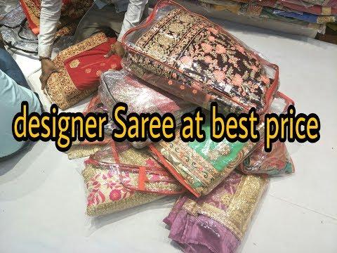 Saree Wholesale Market With Price | Banarasi sari | designer Saree in chandni chock
