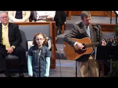 "Abigail Davis singing ""Jesus Messiah"" in church - ..."