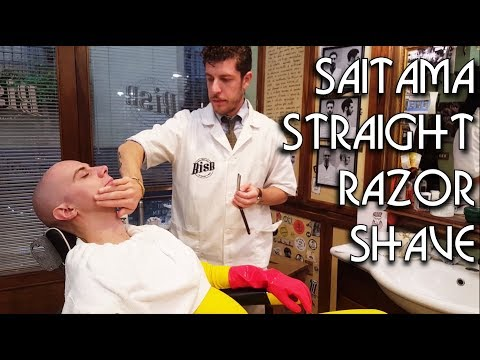 💈 Saitama Face Shave at Lucca Comics 2017 - ASMR Barber - One Punch Man
