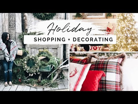 DIY Christmas Decor | Shopping + Decorating My House For The Holidays!