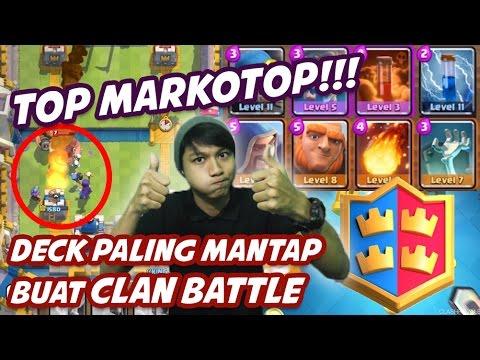 RECOMENDED DECK - Clan Battles Seru Abis dah Kalo Kompak   Clash Royale Indonesia #27