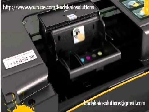 how to remove or install a printhead on kodak printer youtube