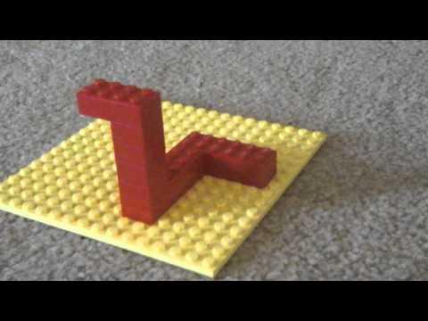 Impossible triangle lego illusion