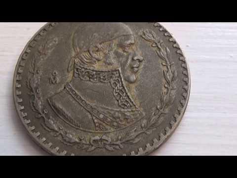 A 1957 .M Un Peso Big Mexico Coin