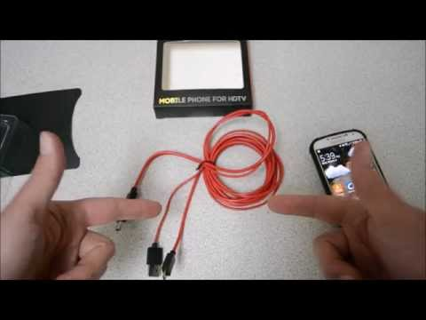 MicroUSB to HDMI Cable Mirror Mobile Device to HDTV