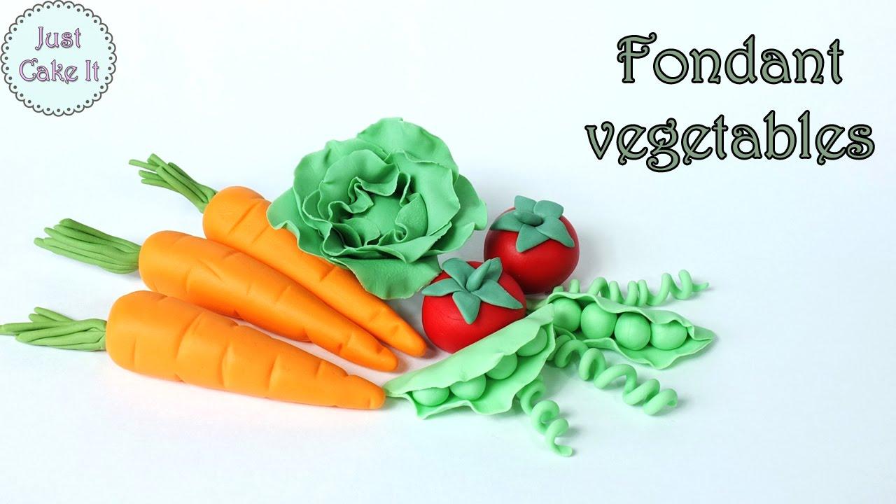 How To Make Fondant Vegetables Jak Zrobić Warzywa Z Masy