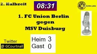 Live - Kommentar zum Spiel 1. FC Union Berlin gegen MSV Duisburg, 26.09.2015