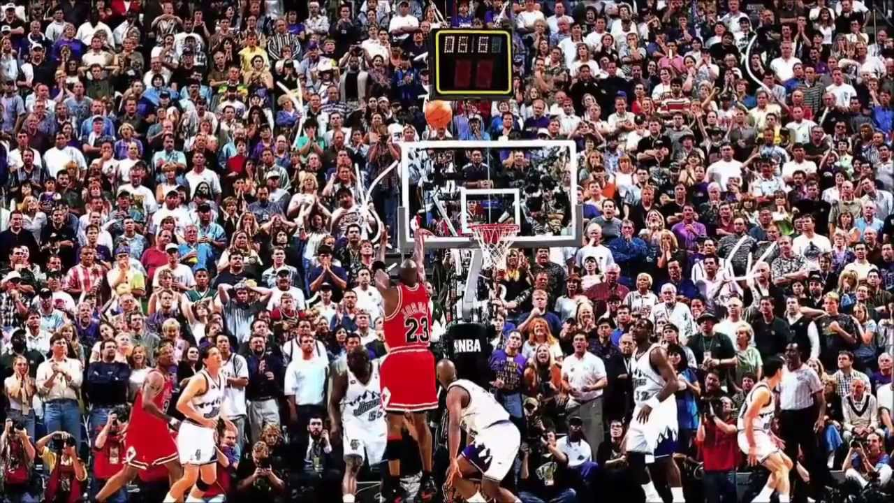 Michael Jordan - Last Shot (Game 6, 1998 NBA Finals) - YouTube