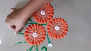 Attractive and Easy, Quick Rangoli Design for everyday || Daily Rangoli