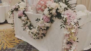 Оформление свадьбы цветами. Серия 3.