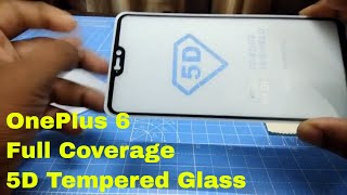 5D Tempered Glass - Full Edge-to-Edge 5D Screen Protector for Oneplus 6