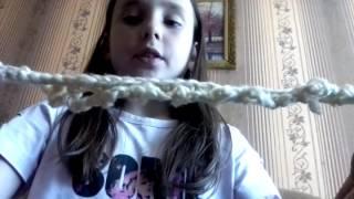 Видео-Урок!!! Вяжу из шерстяных ниток с крючком.Офигенный браслет