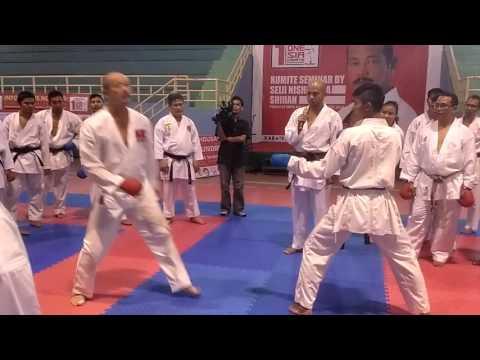 Seiji Nishimura Kumite Technique - seminar in Jakarta