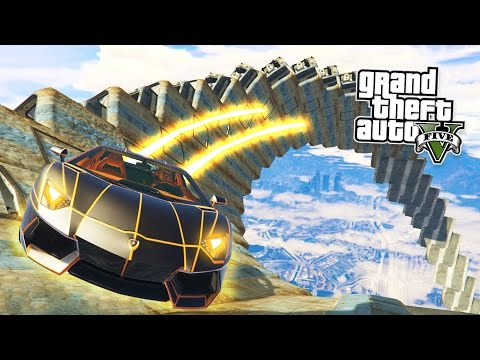 GTA 5 PC Mods - IMPOSSIBLE WALLRIDE STUNTS MOD! GTA 5  Ramp Mod Gameplay! (GTA 5 Mods Gameplay)