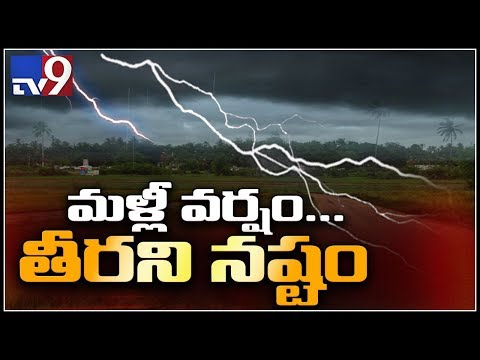 AP & Telangana farmers affected due to heavy rainfall - TV9