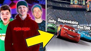 8 YouTubers SECRETLY IN MOVIES! (Jelly, DanTDM, Unspeakable)
