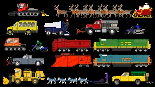 Winter Vehicles - Snow Plow Truck, Snowmobile & More - The Kids' Picture Show (Fun & Educational)