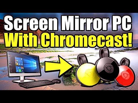 How To Use ChromeCast Screen Mirroring On PC To TV (Desktop Mirroring Tutorial)