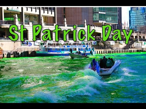 Dyeing the Chicago River green for St Patrick