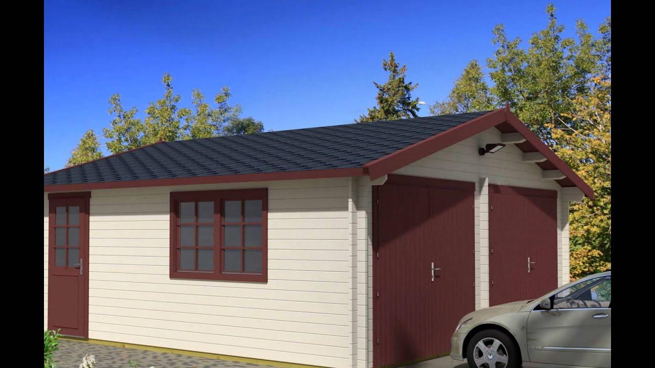 Garage in legno garage prefabbricati in legno garage for Prefabbricati in legno