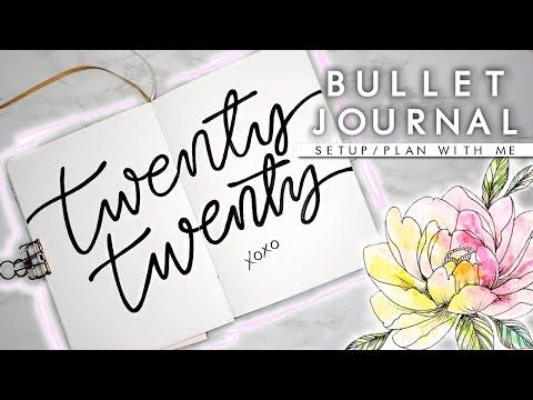 My New 2020 Bullet Journal/Planner Setup ✨Artistic & Minimal✨