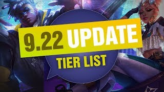UPDATED Mobalytics Patch 9.22 Tier List New OP Champions and Q&A - League of Legends